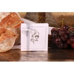 Boîte Nina GM Calice argentée - Boîtes à dragées - Dragées Braquier