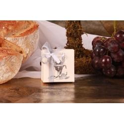 Boîte carrée Calice argent - Boîtes à dragées - Dragées Braquier