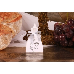 Bougie Calice argent - Boîtes à dragées - Dragées Braquier