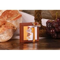 Boîte Nina PM orange et grise - Boîtes à dragées - Dragées Braquier