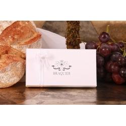 Écrin Vendôme ruban blanc - Boîtes à dragées - Dragées Braquier