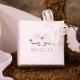 Caritas blanche ruban blanc - Boîtes à dragées - Dragées Braquier