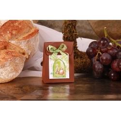 Pochette marron bougie et missel - Boîtes à dragées - Dragées Braquier
