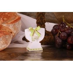 Boîte Calice blanche et verte - Boîtes à dragées - Dragées Braquier