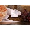 Caritas blanche et ruban gris - Boîtes à dragées - Dragées Braquier