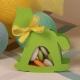 Cheval à bascule vert anis - Boîte à dragées Baptême