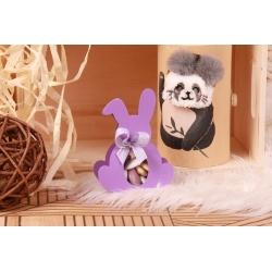 Lapin lilas - Boîtes à dragées - Dragées Braquier