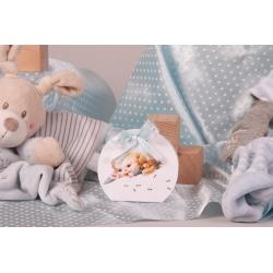 Boîte Louna bébé rétro - Boîte à dragées Baptême