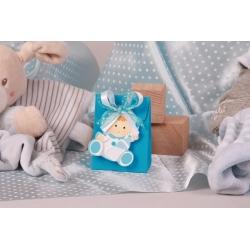 Pochette bébé biberon - Boîte à dragées Baptême