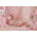Bébé cigogne rose sur réglette