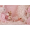 Bébé cigogne rose sur réglette - Boîtes à dragées - Dragées Braquier