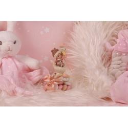Bébé cigogne rose sur boîte - Boîtes à dragées - Dragées Braquier