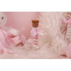 Sujet tétine éprouvette rose - Boîtes à dragées - Dragées Braquier