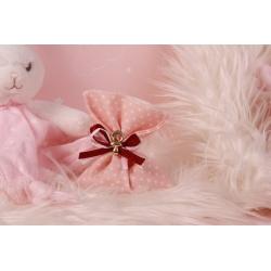 Tétine sur pochon rose - Boîtes à dragées - Dragées Braquier