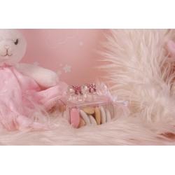 Chausson rose en verre - Boîtes à dragées - Dragées Braquier