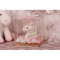 Licorne dans sa boîte à dragées