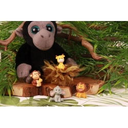 Safari sur tulle - Boîte à dragées Baptême