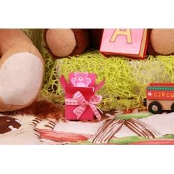 Colis ourson rose - Boîtes à dragées - Dragées Braquier