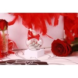 Perle Blanche sur cœur - Boîtes à dragées Mariage