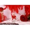 Carré rouge sur pot - Boîtes à dragées - Dragées Braquier