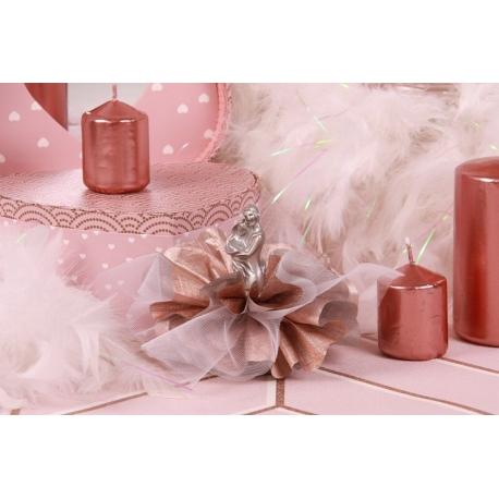 Couple argent sur tulle - Boîtes à dragées - Dragées Braquier