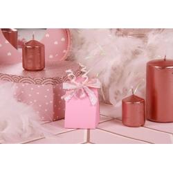 Cœur sur Iris rose - Boîtes à dragées - Dragées Braquier