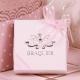 Caritas blanche ruban rose - Boîtes à dragées - Dragées Braquier