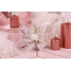 Fleur blanche sur tulle or - Boîtes à dragées - Dragées Braquier