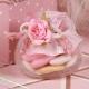 Fleur rose sur pot - Boîtes à dragées - Dragées Braquier