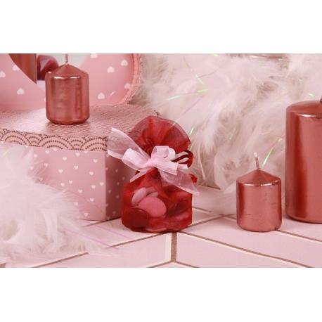 Pochon bordeaux - Boîtes à dragées - Dragées Braquier