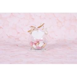 Cœur sur boule - Boîtes à dragées - Dragées Braquier