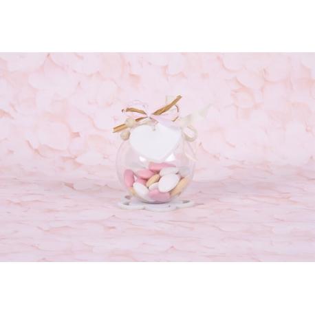 Coeur sur boule - Boîtes à dragées - Dragées Braquier