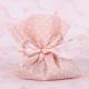 Pochon rose petits pois - Boîtes à dragées - Dragées Braquier