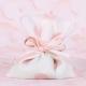 Pochon rose gros pois - Boîtes à dragées - Dragées Braquier