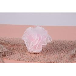 Plume blanche sur tulle dentelle - Boîtes à dragées - Dragées Braquier