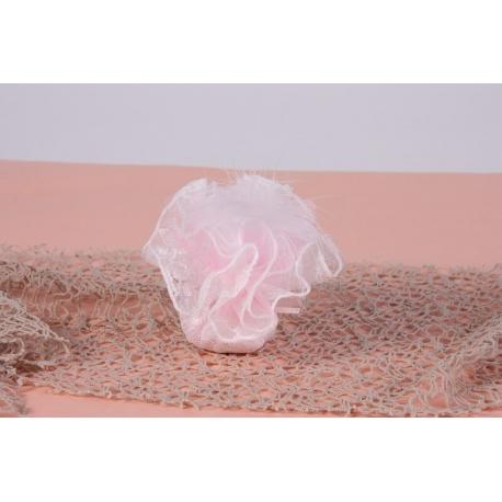 Plume blanche sur tulle dentelle - Boîte à dragées Mariage