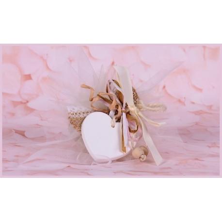 Coeur sur tulle - Boîtes à dragées - Dragées Braquier