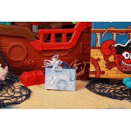 Valise bleu - Boîtes à dragées - Dragées Braquier