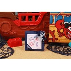 Boîte Nina marine - Boîtes à dragées - Dragées Braquier