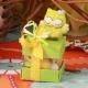 Hibou vert mini cube - Boîtes à dragées - Dragées Braquier