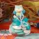 Hibou bleu sur pot - Boîtes à dragées - Dragées Braquier