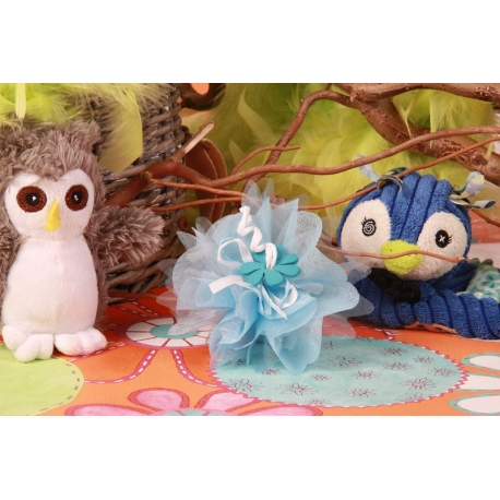 Fleur bleue sur tulle - Boîtes à dragées - Dragées Braquier