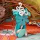Fleur bleue sur pyramide - Boîtes à dragées - Dragées Braquier