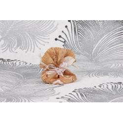 Pochon brodé or - Boîtes à dragées - Dragées Braquier
