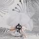 Fleurette noire sur tulle - Boîtes à dragées - Dragées Braquier