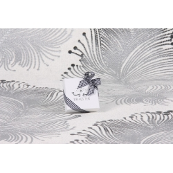 Caritas blanc, ruban Vichy noir - Boîtes à dragées - Dragées Braquier