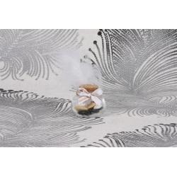 Plume blanche sur pot - Boîtes à dragées - Dragées Braquier