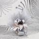 Perle noire sur tulle - Boîtes à dragées - Dragées Braquier