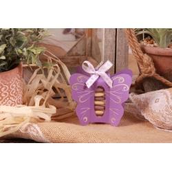 Papillon lilas - Boîtes à dragées - Dragées Braquier