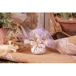 Papillon sur tulle parme - Boîtes à dragées - Dragées Braquier
